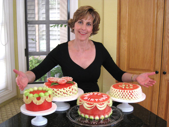 Watermelon Cakes and Cancer? - Nita\'s Fruit and Vegetable Carving Videos